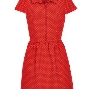 Kensie Dresses - Macy's Go Red Kensie Textured Dot Dress, Medium